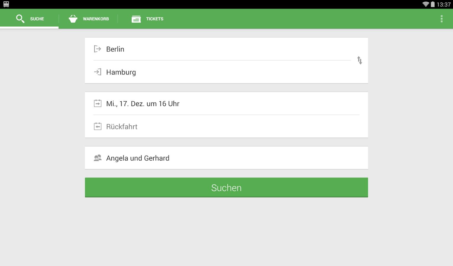 Screenshot von Capitaine Train: Bahn-Tickets - Android App