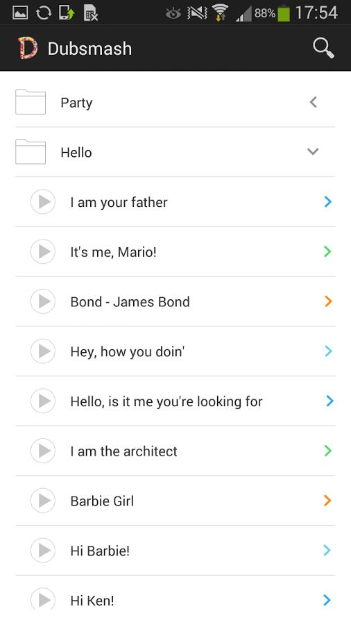Screenshot von Dubsmash - Android App
