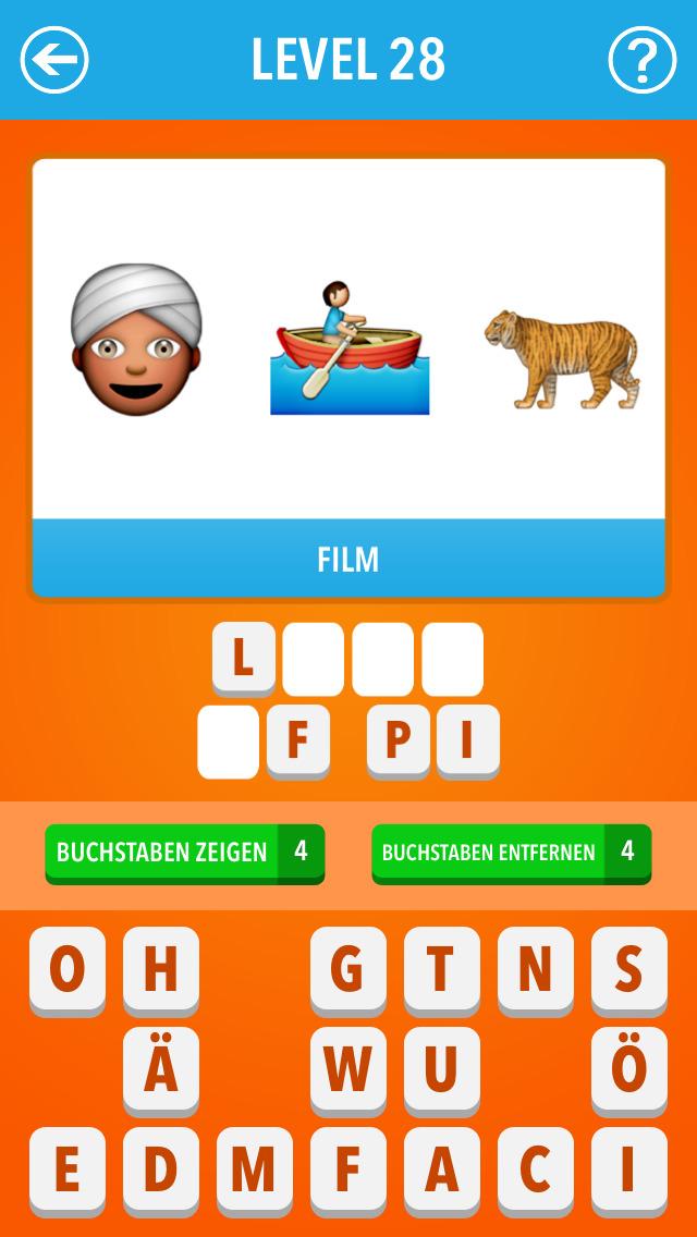 Screenshot von Emoji Quiz Deutschland: Ratespiel für's iPhone