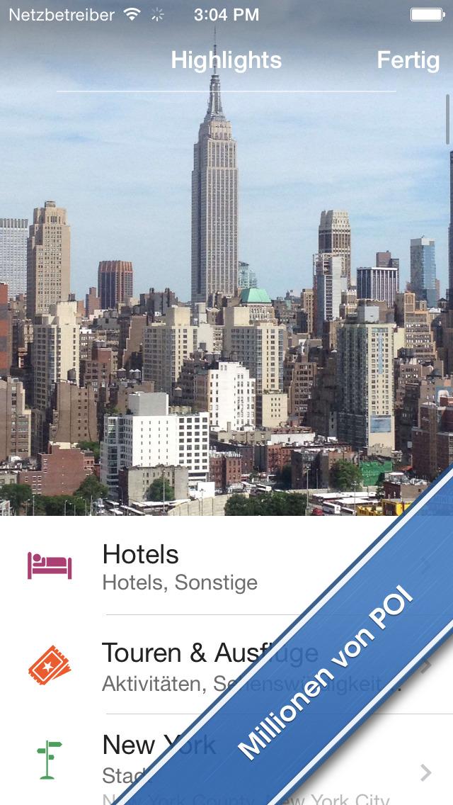 Screenshot von City Maps 2Go iPhone- / iPad-App