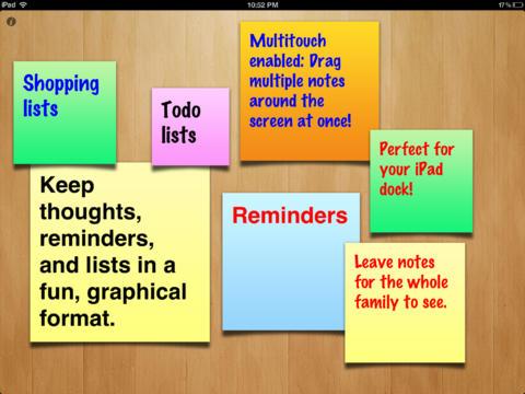 sticky notes f r ipad app f r notizen und erinnerungen iphone ipad app chip. Black Bedroom Furniture Sets. Home Design Ideas
