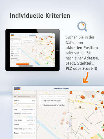 immobilien scout24 for ipad iphone ipad app chip. Black Bedroom Furniture Sets. Home Design Ideas