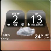 App Icon: MIUI Dark Digital Weather CL.