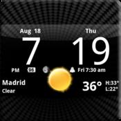 App Icon: Smoked Glass Clock Widget
