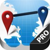 App Icon: AtoB Distance Calculator PRO -  Distanzrechner zur Messung von Luftlinie oder Auto-Route von A nach B für Reise und mehr 1.2.6
