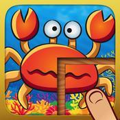 App Icon: Alle meine Tier-Puzzles - Lustiges Lernspiel für Kinder und Kleinkinder (Dinos, Unterwasserwelt, Dschungel, Insekten) 6.0