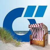 App Icon: Ostsee-App von Das Örtliche – Entdecke die Ostseeküste von Mecklenburg-Vorpommern mit der kostenlosen Reiseführer App. 2.3