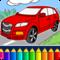 Ausmalbilder für Kinder: Autos