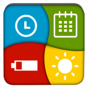 App Icon: Uhr Batterie  Kalendar Widget