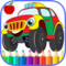 Cars and Trucks Coloring Book